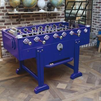 baby-foot vintage bleu foncé