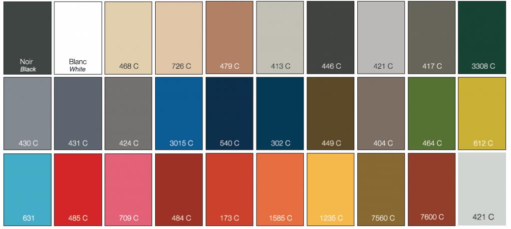 Coloris métal