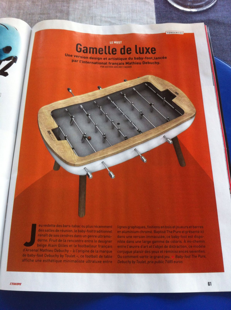 baby-foot the pure dans magasine Equipe